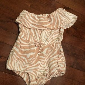 Baby gap one shoulder romper